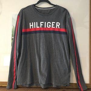 Tommy Hilfiger Long Sleeve T Shirt Branded Stripe